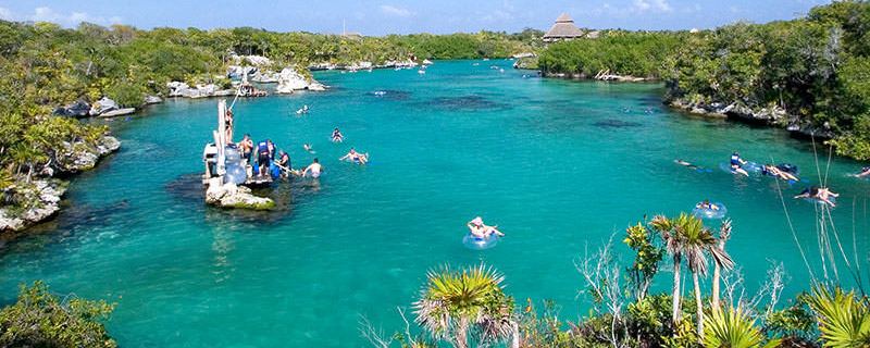 World's largest natural aquarium park at Xel-Ha adventure